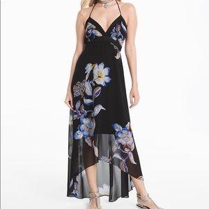 WHBM Floral Hi/Lo Halter Dress